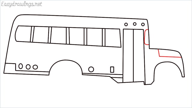 how to draw a school bus step (11)