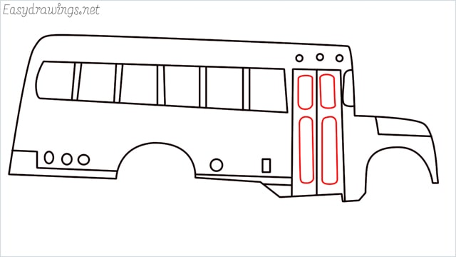 how to draw a school bus step (12)