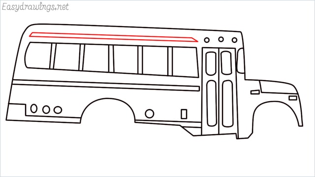 how to draw a school bus step (14)