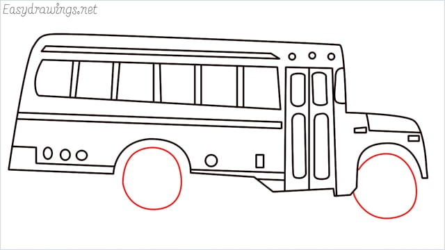 how to draw a school bus step (15)