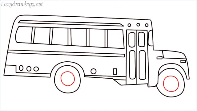 how to draw a school bus step (16)