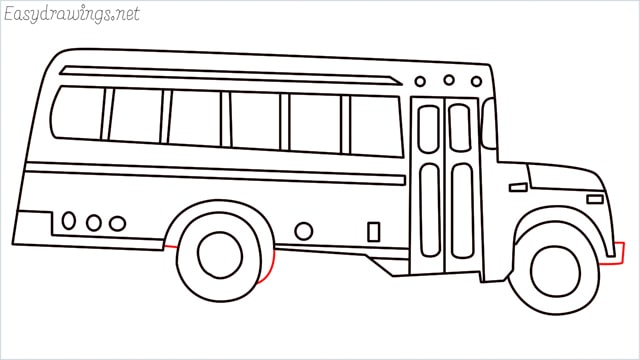 how to draw a school bus step (17)