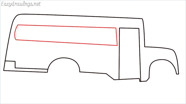 how to draw a school bus step (6)
