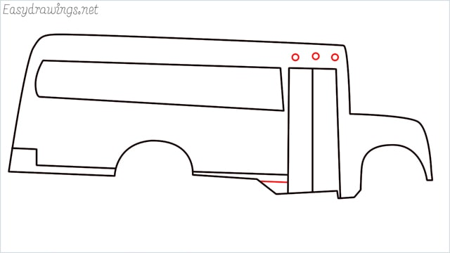 how to draw a school bus step (8)