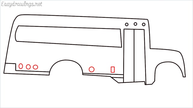 how to draw a school bus step (9)