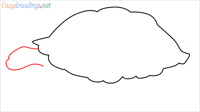 how to draw a sea turtle step (3)