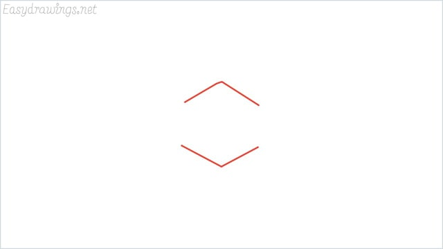 how to draw a snowflake step (1)