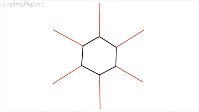 how to draw a snowflake step (3)