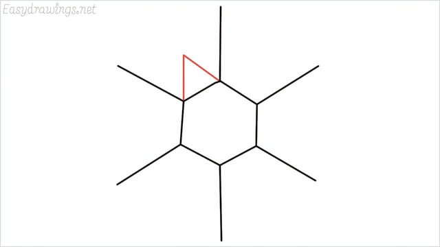 how to draw a snowflake step (4)