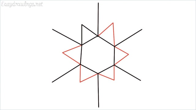 how to draw a snowflake step (5)
