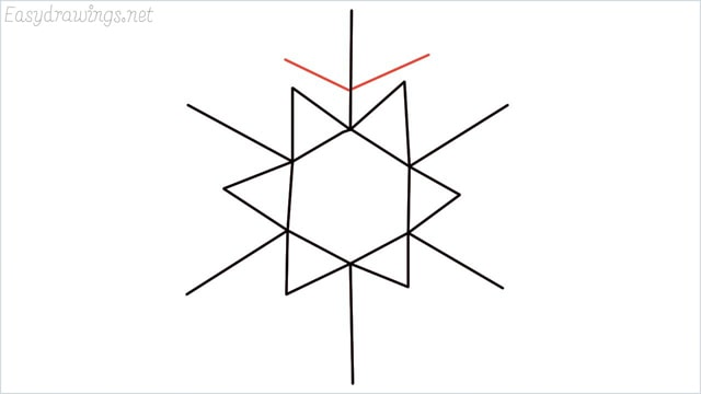 how to draw a snowflake step (6)