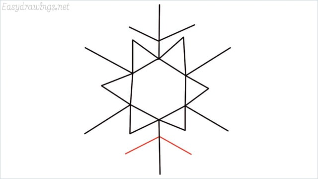 how to draw a snowflake step (7)