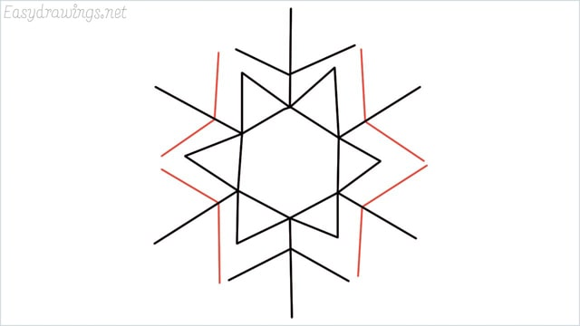 how to draw a snowflake step (8)