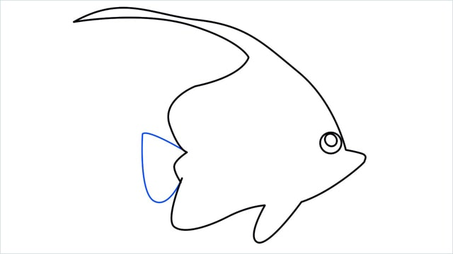 how to draw a spadefish step (7)