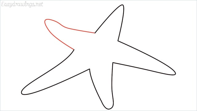 how to draw a starfish step (5)