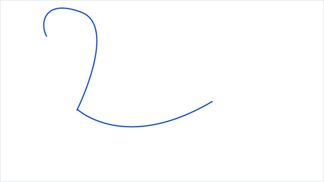 how to draw a swimming swan step (1)