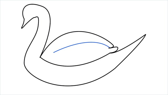 how to draw a swimming swan step (7)