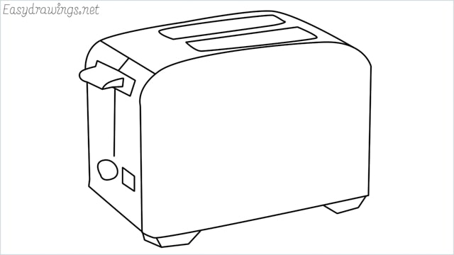 how to draw a toaster step by step