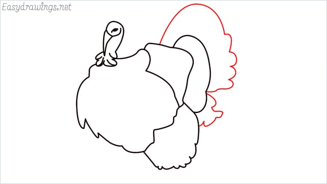 how to draw a turkey step (10)