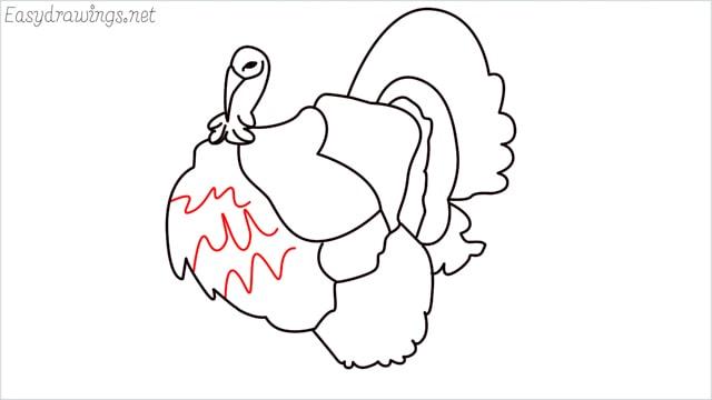 how to draw a turkey step (13)
