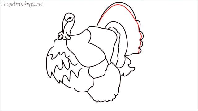 how to draw a turkey step (14)