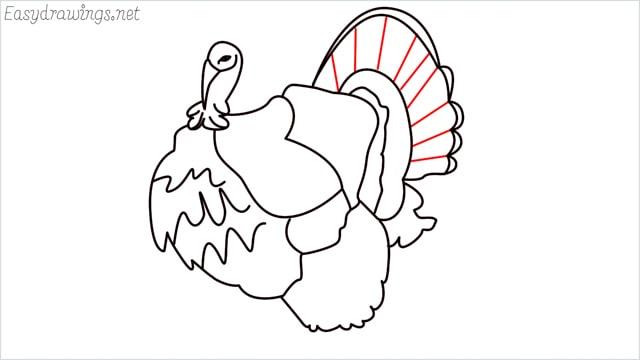 how to draw a turkey step (15)