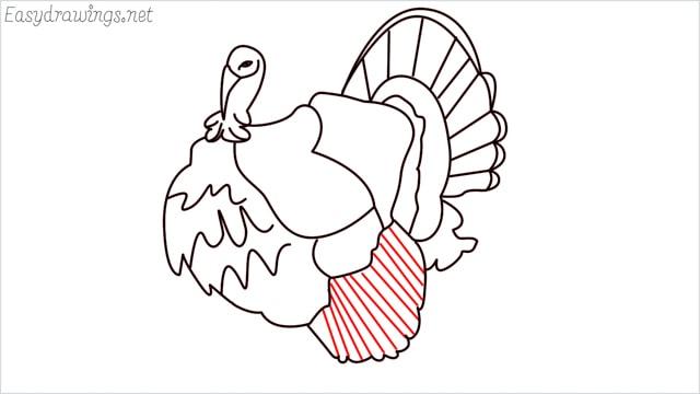 how to draw a turkey step (16)