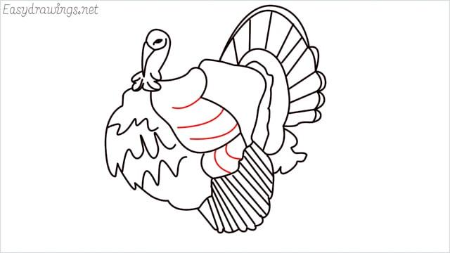 how to draw a turkey step (17)