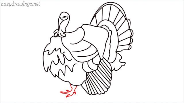 how to draw a turkey step (18)