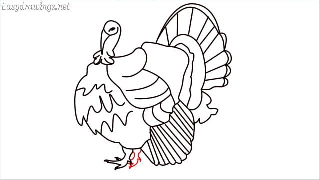how to draw a turkey step (19)