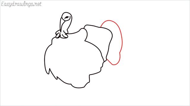 how to draw a turkey step (8)