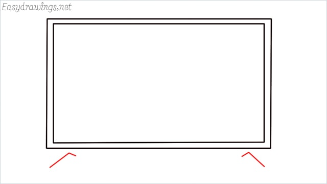 how to draw a tv step (3)