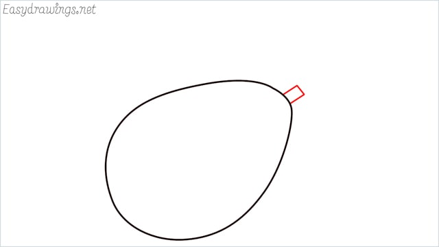 how to draw an avocado step (2)