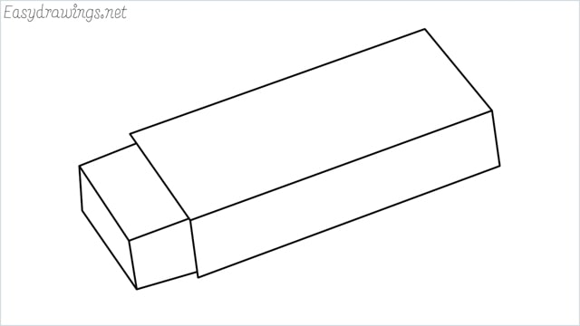 how to draw an eraser step by step