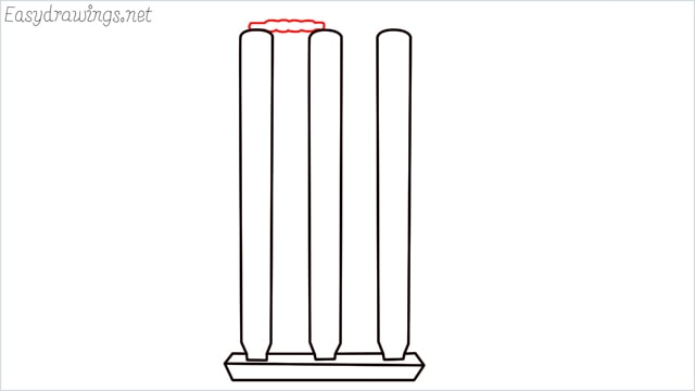 how to draw cricket stumps step (10)