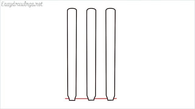 how to draw cricket stumps step (6)