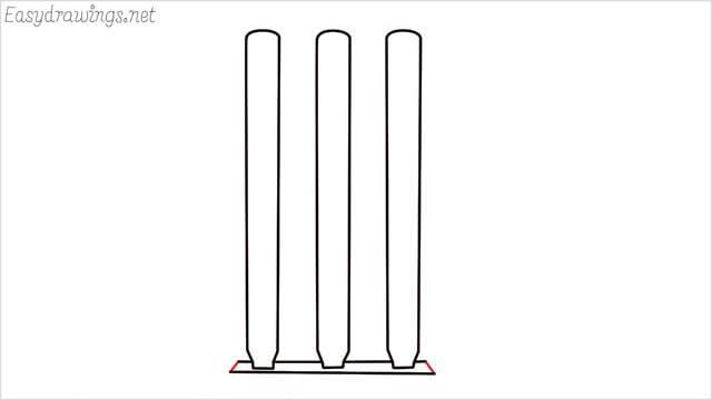 how to draw cricket stumps step (8)