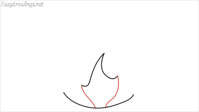 how to draw fire step (3)