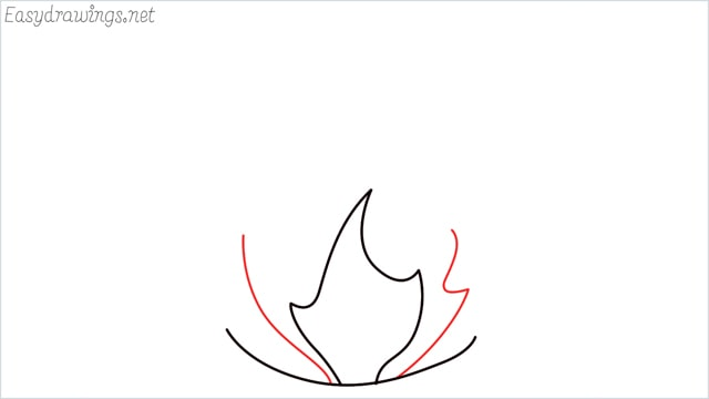 how to draw fire step (4)