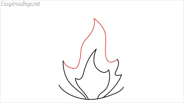how to draw fire step (5)