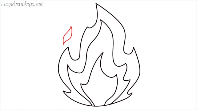 how to draw fire step (8)