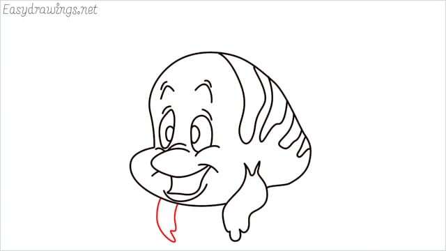 how to draw flounder step (11)