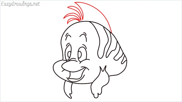 how to draw flounder step (12)