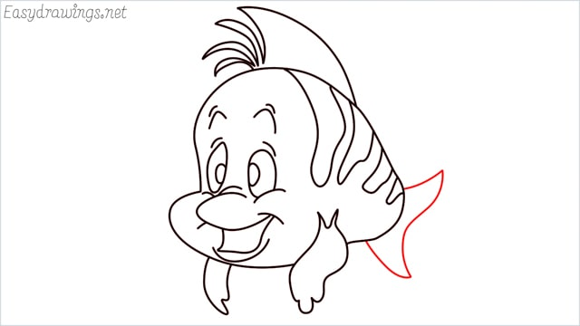 how to draw flounder step (13)