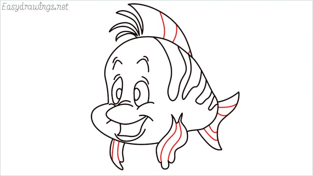 how to draw flounder step (14)