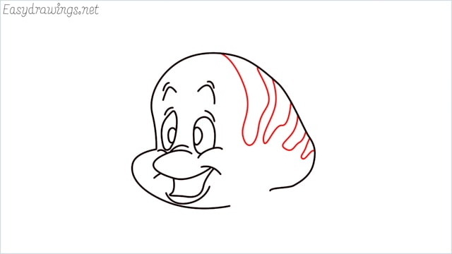 how to draw flounder step (9)