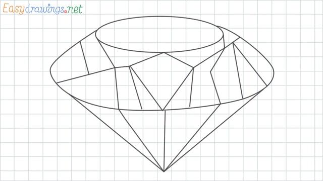 Diamond grid line drawing