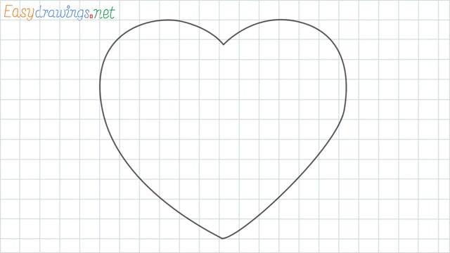 Heart shape grid line drawing