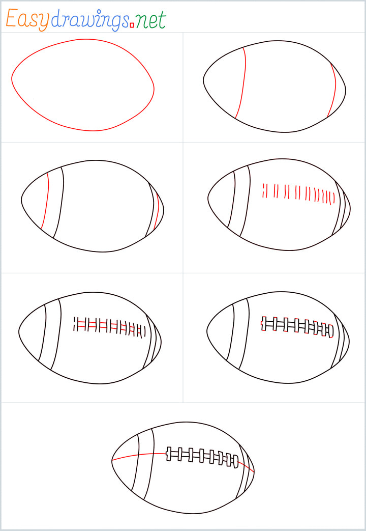 all outline for Rugby ball drawing example