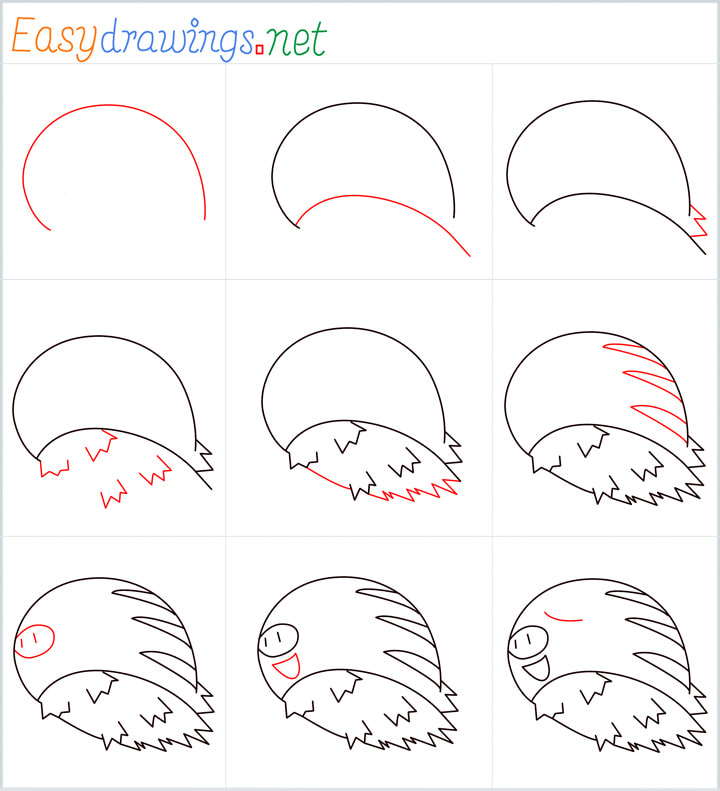 all reference outline drawing in one place for Swinub drawing tutorial